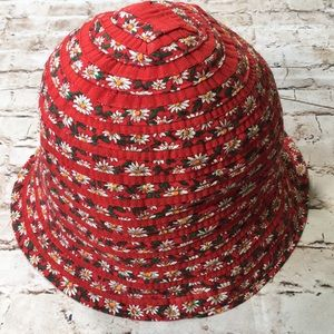 Filippo Catarzi Italian Red Floral Bucket Hat